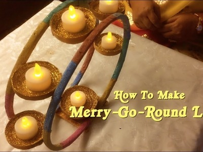 How to make Merry-Go-Round Lamp   Diwali Special