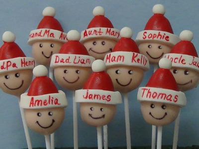 How to make xmas cake pops for family and friends (part 1)