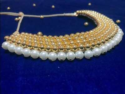 Indian Traditional Home made Golden Balls Pearl Necklace | Necklace