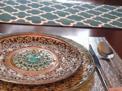 Interior Design Tips - How to Set a Beautiful Table for a Dinner Party, Christmas, or the Holidays