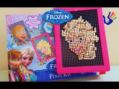 Let's play Disney Frozen pixel kit - princess ELSA frozen pixel kit - Toys and Play