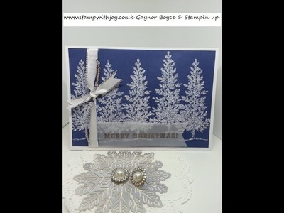 Lovely as a tree heated embossed with dazzling diamonds SU
