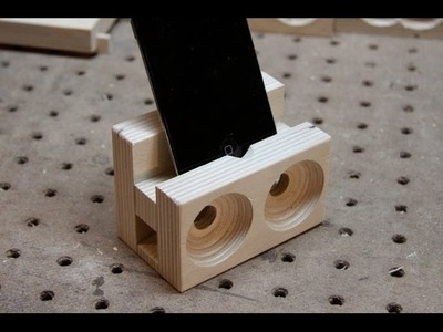 Make a wooden speaker dock