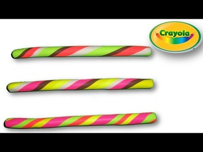 Making of Candy Sticks from Crayola Model Magic