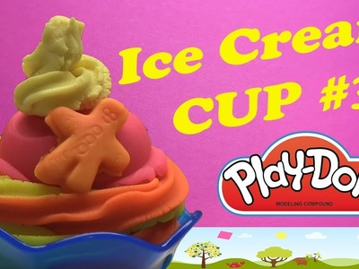 Play Doh Ice Cream Treats: making ice creams cup and cone #3
