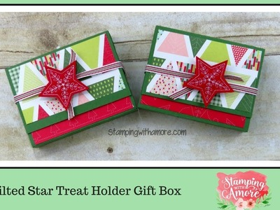 Quilted Star Treat Holder Gift Box
