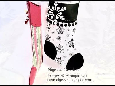 Stampin Up 3D Stocking with a back