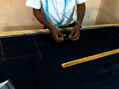 Tailor marking & cutting a pant piece in just 3 minutes (Pro tailoring)