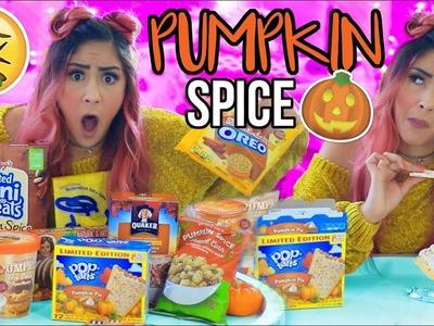 TASTING PUMPKIN SPICE FOODS! Pumpkin Spice Challenge!