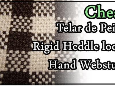 telar mara de peine punto chess pattern rigid heddle loom - Strickrahmen Muster