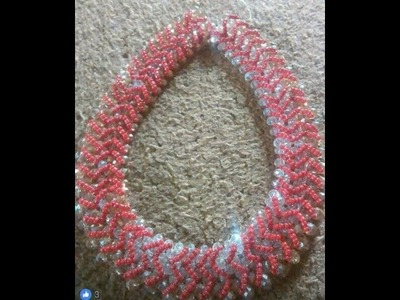 The tutorial on how to make this beautiful red and silver necklace bead.