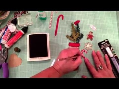 Tutorial: A stocking tag using the Tim Holtz die from Sissix