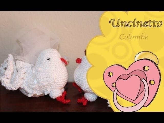 Uncinetto bomboniera:Colombe 2° parte-How to do doves