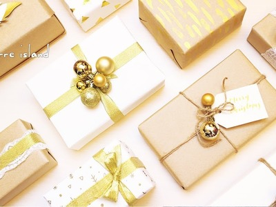 10 Last Minute Easy & Chic Gold Accents Gift Wrapping Ideas ????  | c for craft