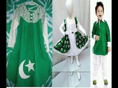 14 August dress designs for Kids.dress for 14 August.Pakistani Independence Day Dresses
