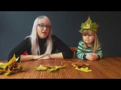 5 MIN AUTUMN LEAF CROWN - using just leaves, that's it!