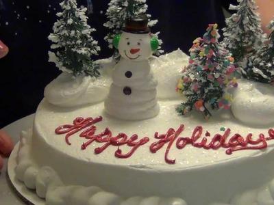 A Snowman Christmas Cake