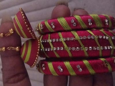Basic silk thread bangle