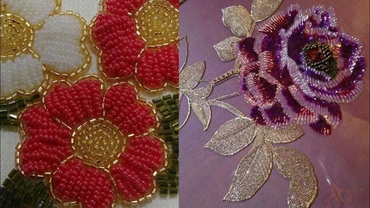 Beautiful Moti work Embroidery design ideas for kurta, saree ...