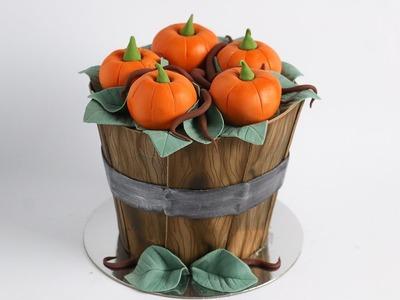 BONUS VIDEO: Barrel Pumpkin Cake Tutorial- Rosie's Dessert Spot