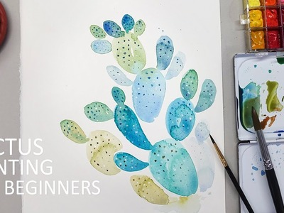 Cactus Painting Tutorial for Beginners (Basic & Easy)