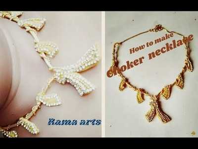 Choker necklace - How to make necklace | jewellery tutorials
