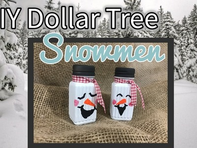 DIY Dollar Tree Snowmen Salt & Pepper Shakers | Table Decor