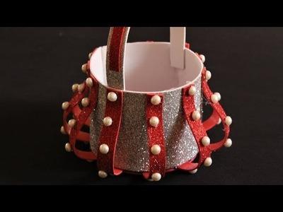 DIY-  How to Make Easy Basket for Chocolates | Christmas Gift Basket