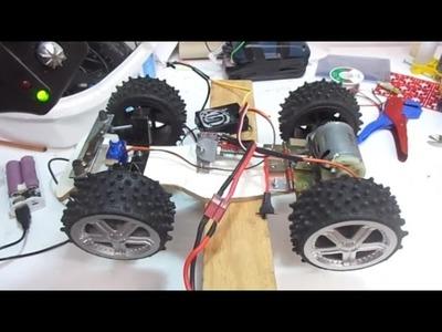 DIY RC Truck - Super Speed - Big DC motor Car. ev yapımı oyuncak kamyon!