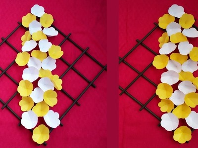 DIY: Wall Decoration Idea !!! How to Make Most Beautiful Paper Flower  Hanging !!!