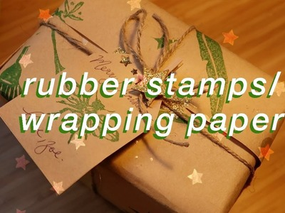 DIY wrapping paper + rubber stamps ????