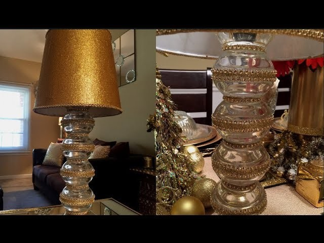 Dollar Tree DIY - ???? Gold Desk Lamp????