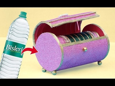 Easy Best Out of Waste Craft Idea | Plastic Bottle Bangles Stand | Recycled Craft