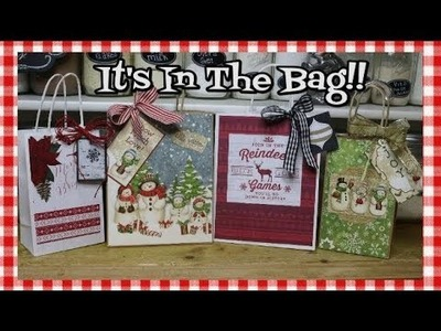 Easy Decorated Holiday Gift Bags ~ Gift Wrap Hack ~ The Holidays Are Coming ~ Noreen's Kitchen