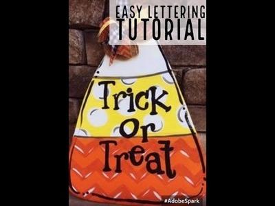 Easy Lettering Technique ~ Candy Corn Door Hanger