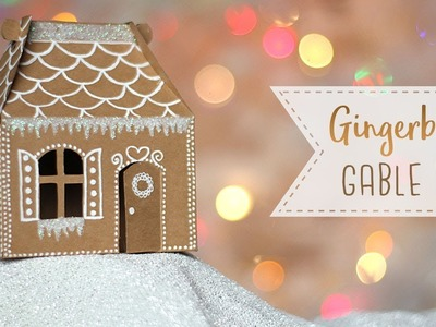 Gingerbread House Gable Box Tutorial | DIY Gift Box ????  Craftmas