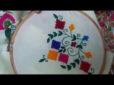 Hand Embroidery: Balochi Tannka.baluchi stitch Part-2