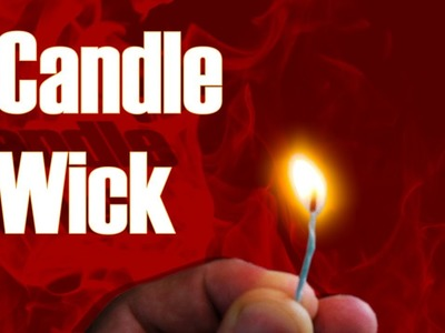 Homemade Candle Wick (Read The Description) | Life Hack