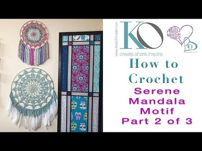 How to Crochet Mandala Wall Hanging Part 2 of 3 LEFT HAND