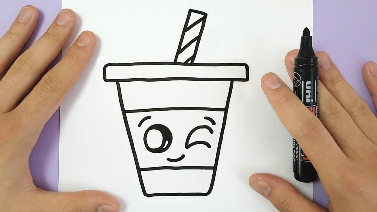Draw how to draw a cute drink super easy and kawaii for Super easy drawings