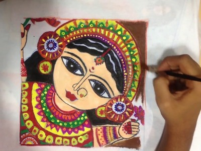 How to Draw a Madhubani Art Painting in T-Shirt Step by Step | Easy Drawing Tutorial | Drawing