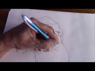HOW TO DRAWING SANTA CLAUS (head)
