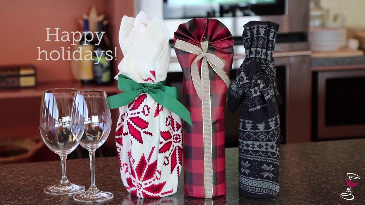 How to Gift Wrap Wine Bottles - Three Ways