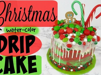 How To Make A Christmas Watercolor Drip Cake!