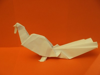 How to Make a Paper Bird (Turkey for Thanksgiving ) - Origami