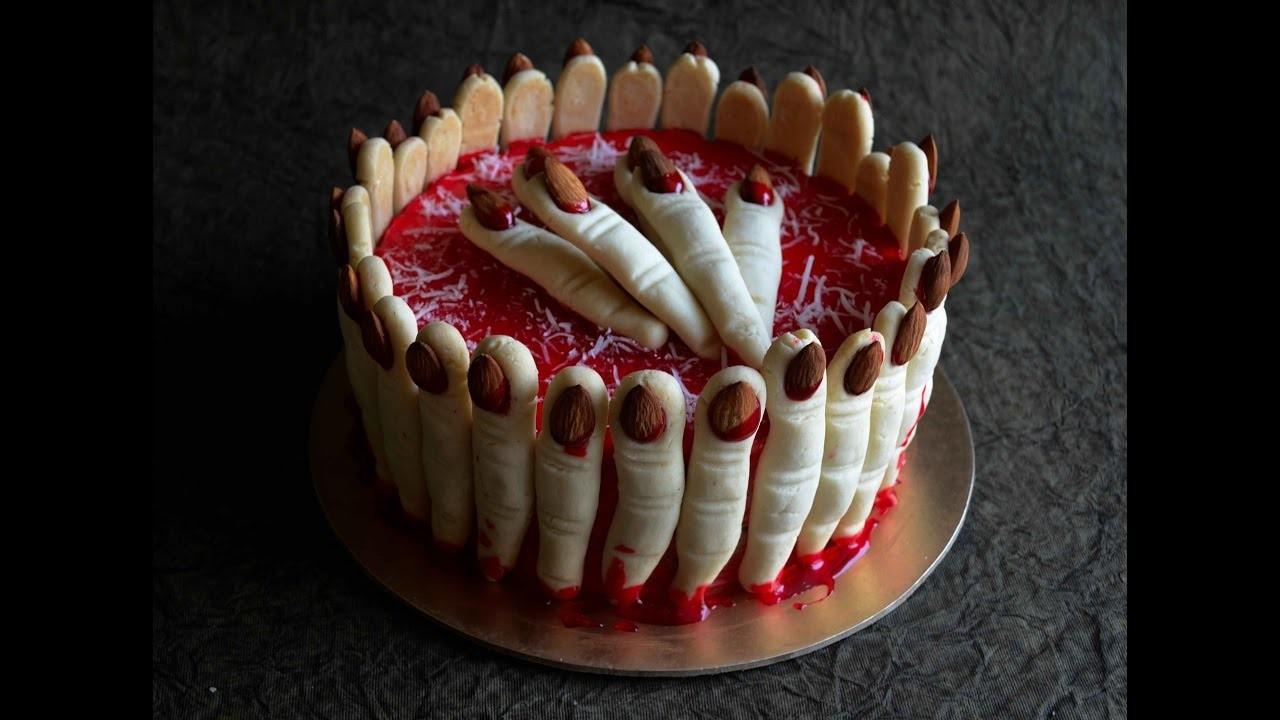 How To Make a Spooky Fingers Cake - Halloween Spooky Cake - Video Recipe