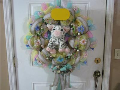 How To Make Carmen's Springtime Piglet Wreath