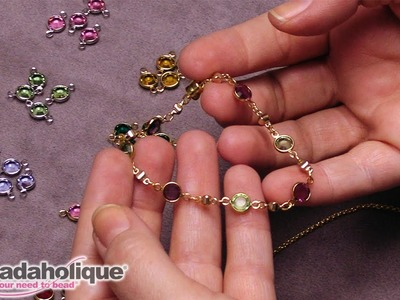 How to Make Delicate Jewelry with Swarovski Crystal Channel Charms and Links