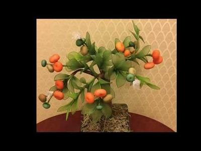 How to make nylon stocking - Orange tree