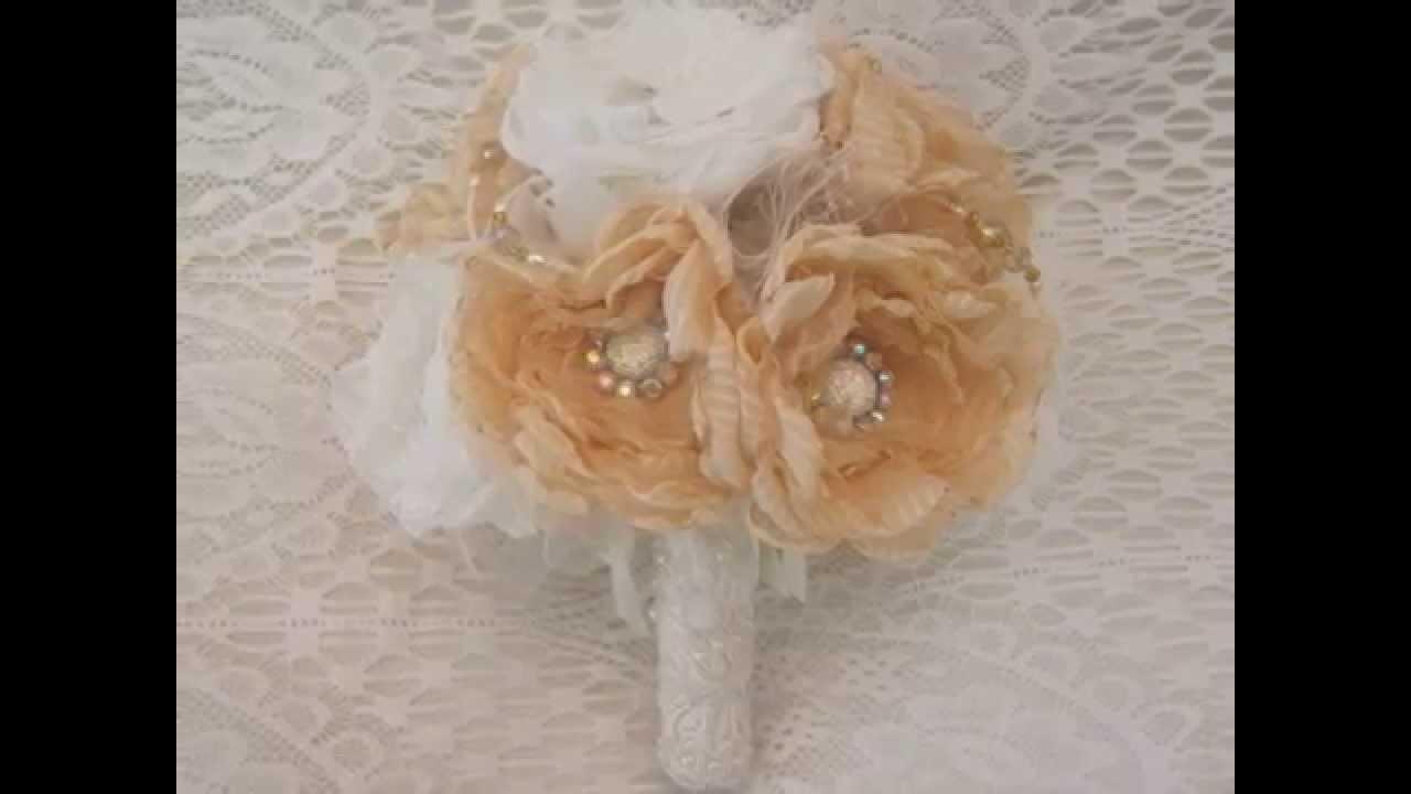 Liv's Fabric Bridal Bouquets & Vintage Style Accessories